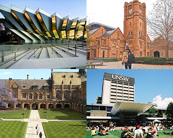 top studying universities of australia