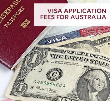 visa application fees for Australia